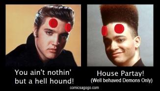"""Elvis Presley and Christopher """"Kid"""" Reid"""