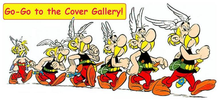 Pictures of Asterix comic book covers
