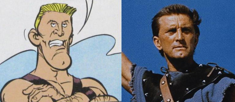 Parody of Kurt Douglas as Spartacus