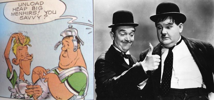 Parody of Laurel and Hardy