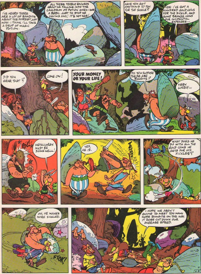 Bandits in Asterix and the Golden Sickle