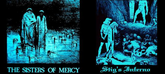 Sisters of Mercy band and Stig's Inferno comic book