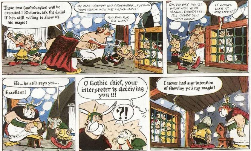 Getafix speaks Gothic