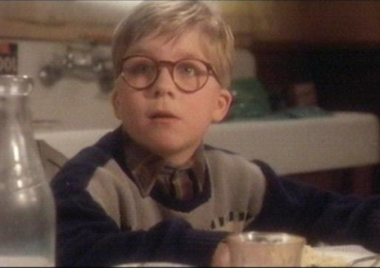 Young Glenn Beck as Ralphie from A Christmas Story