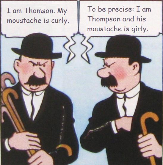 Tintin, Thomson and Thompson