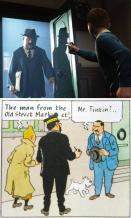 Tintin and Mr. Barnaby - Comparison between Movie and Comic