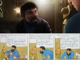 Tintin and Captain Haddock - Comparison between Movie and Comic