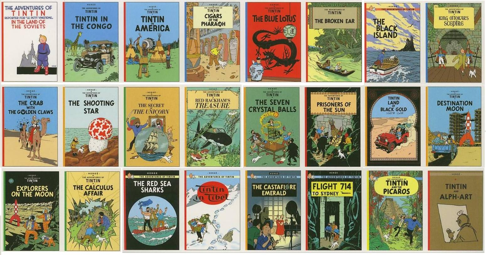 Tintin Comics French Rating the Tintin Comi...