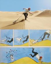 Tintin and Captain Haddock in the Desert- Comparison between Movie and Comic