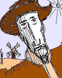 Don Quixote drawing