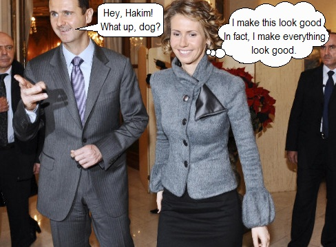 Bashar and Alma Al-Assad