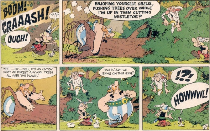 Asterix Comic Book Pages
