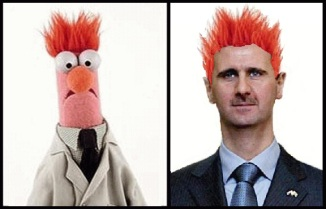 Beaker the Muppet and Bashar al-Assad the despot