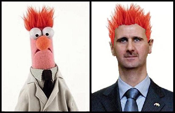 Beaker the Muppet and Bashar al-Assad the despot