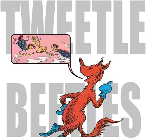 Tweetle Beetle Battle in Fox in Socks