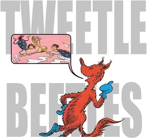 Tweetle Beetle Battle in Fox in Socks