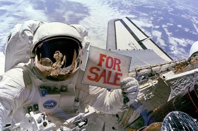 Private space exploration
