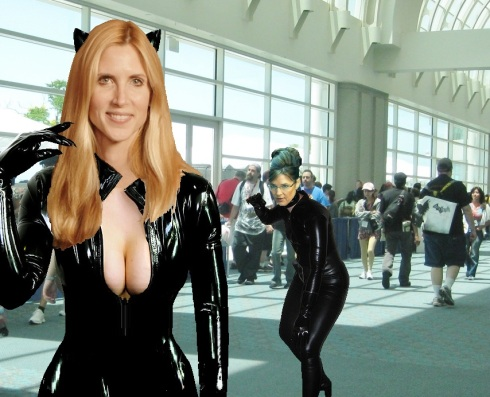 Ann Coulter and Sarah Palin, Catwoman Cosplay, Comic-Con