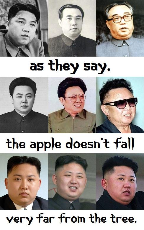Kim Il-sung, Kim Jong-il, Kim Jong-un