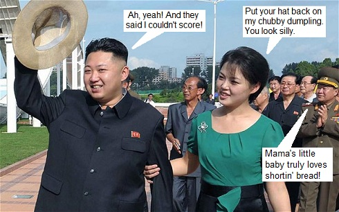 Kim Jong-un and Ri Sol Ju