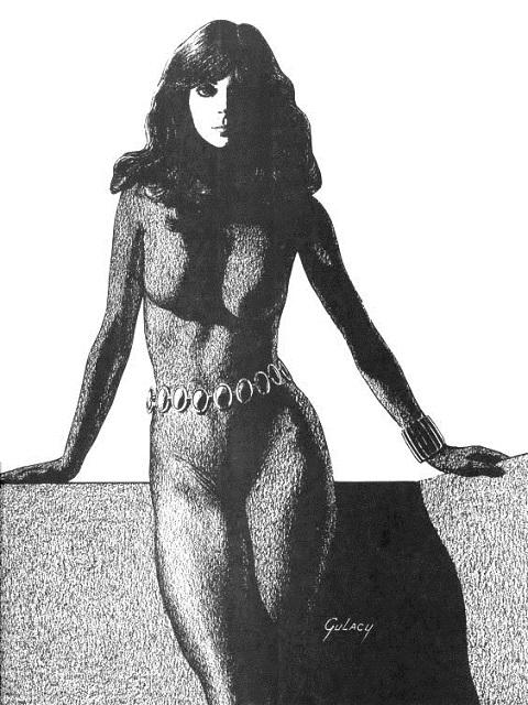 Sexy Black Widow character
