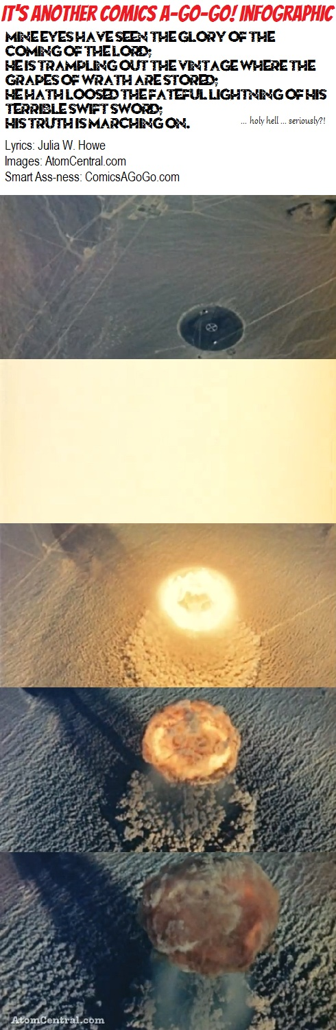 Aerial View of Atomic Bomb Explosion
