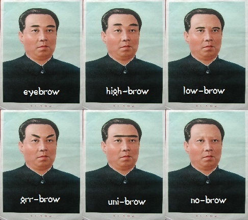 Kim Il-Sung eyebrows