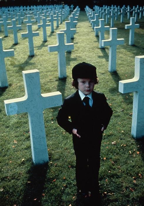Damien in the graveyard