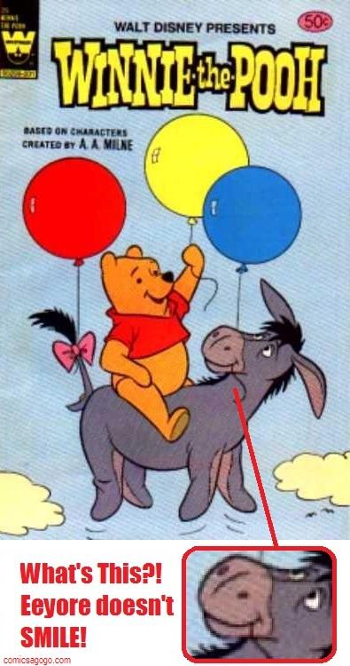 Eeyore on the cover of Walt Disney Presents Winnie the Pooh (Whtiman Comics)