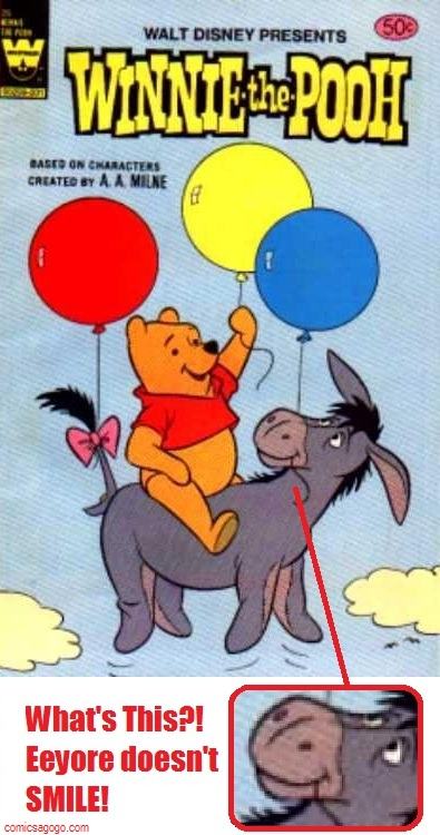 Eeyore on the cover of Walt Disney Presents Winnie the Pooh (Whtiman Comics)