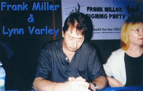 Frank Miller at a signing party
