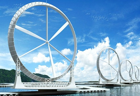Japanese concept of wind les turbines