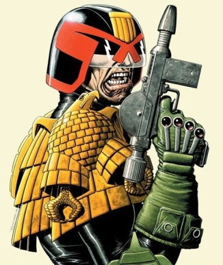 Judge Dredd comic book character