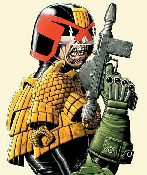 Judge Dredd comic book character