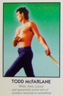 Todd McFarlane trading card