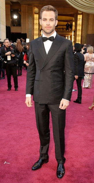 Chris Pine on the red carpet at the 85th Academy Award Program