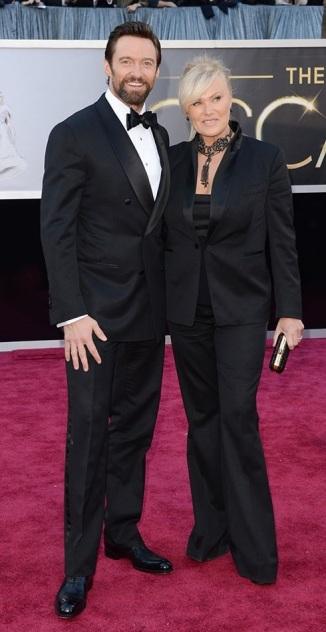 Hugh Jackman on the red carpet at the 85th Academy Award Program