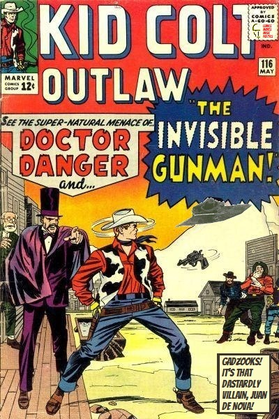 Kid Colt vs. Doctor Danger and the Invisible Gunman