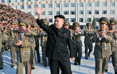 Kim Jong-un at a Military Event