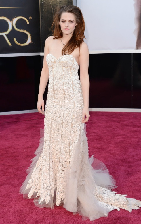 Kristin Stewart on the red carpet at the 85th Academy Award Program