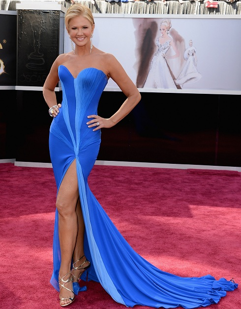 Nancy O'Dell on the red carpet at the 85th Academy Award Program
