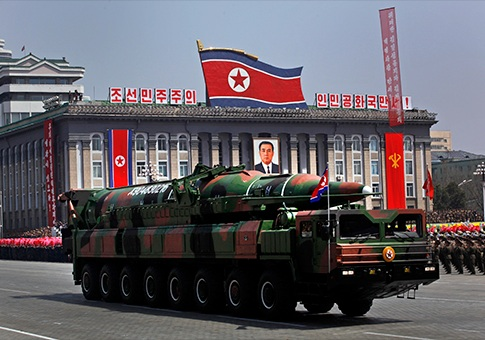 North Korean long range nuclear missle on parade