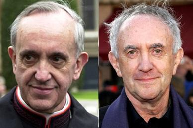 Pope Francis, Jorge Mario Bergoglio looks like Jonathan Pryce