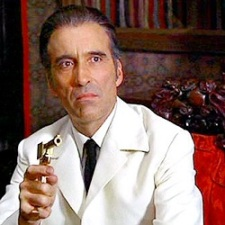 Christopher Lee as Scaramanga in The Man with the Golden Gun