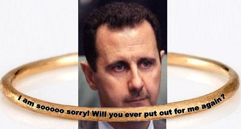 Bashar al-Assad apology ring