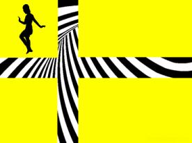 Comics A-Go-Go! Psychedelic Flag