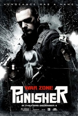 Punisher War Zone Movie Poster, black and white, explosions