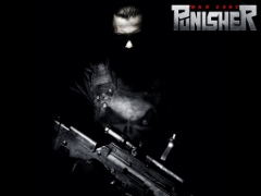 Punisher War Zone Movie Poster, face in shadows