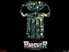 Punisher War Zone Movie Poster, city, skull
