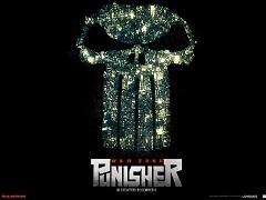 Punisher War Zone Movie Poster, city, skull
